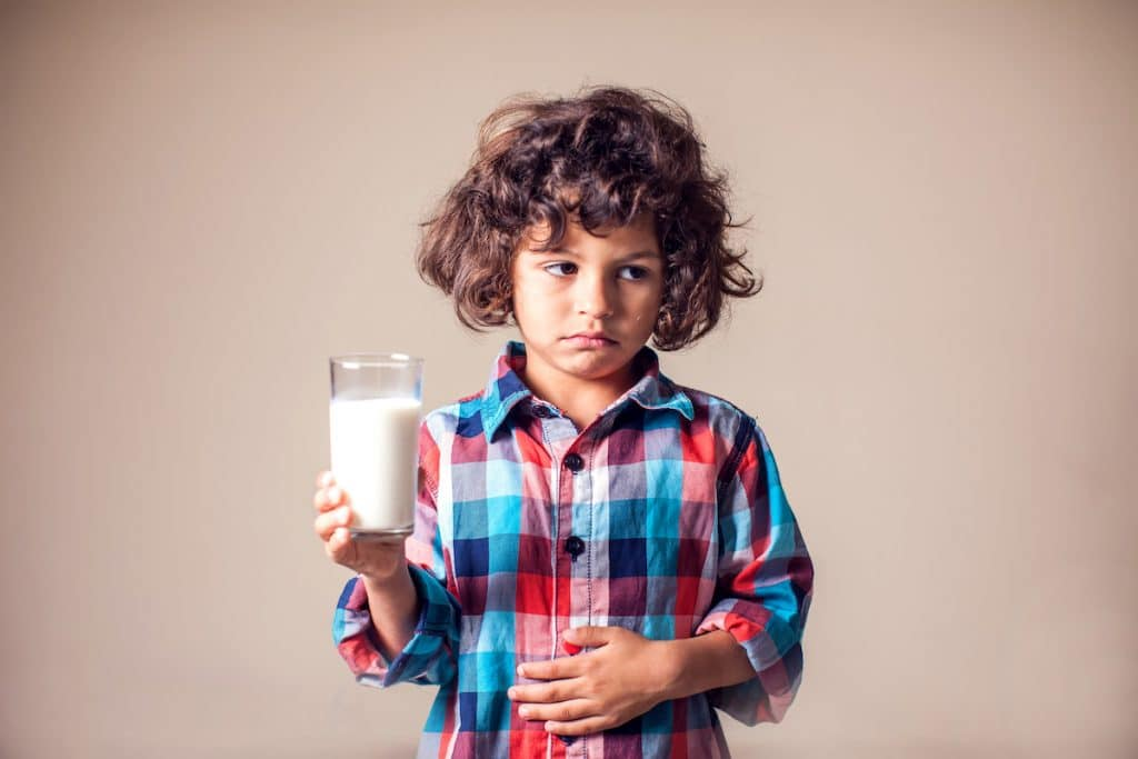 Kid with stomach pain - dairy allergy